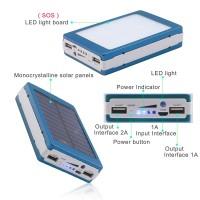 Baterie Externa Power Bank 20000 mah + Panou Solara + Lanterna 20 Led C187