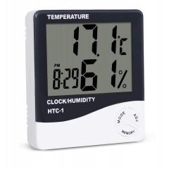 Ceas, termometru si aparat de masura a umiditatii digital cu ecran LCD MRG MHTC1 C267
