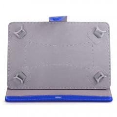 Husa tableta MRG M568, 10 inch, Tip mapa, Prindere 4 cleme, Albastru C570
