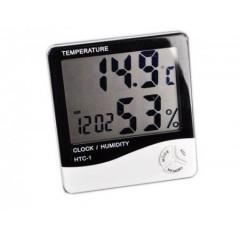 Ceas digital cu senzor de umiditate termometru si alarma HTC