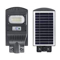 Lampa proiector cu panou solar 30W cu senzor lumina si telecomanda