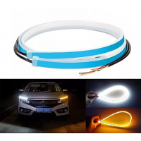 Set 2 benzi LED flexibile, DRL cu semnalizare secventiala, 30 cm