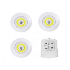 Set 3 lampi cu LED, control de la distanță