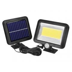 Proiector 100 LED cu panou solar, senzor de miscare, rezistent la apa
