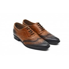 Pantofi Senator, din piele naturala atat exterior cat si pe interior, model in degrade