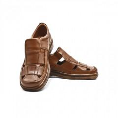 Autohton: Sandale barbatesti, talpa Epa, confortabile, din piele naturala 100%, negre sau maro
