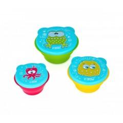 Set 3 boluri cu capac, marimi diferite, fara BPA