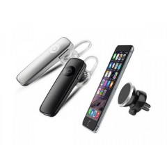Casca Bluetooth + Suport magnetic pentru telefon