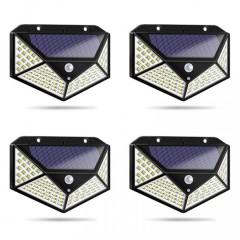 Set 4 lampi 100 LED, 3 moduri de functionare, incarcare solara si senzor de miscare