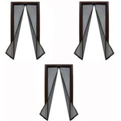 Set 3 perdele magnetice anti-insecte, dimensiuni 190x100 cm