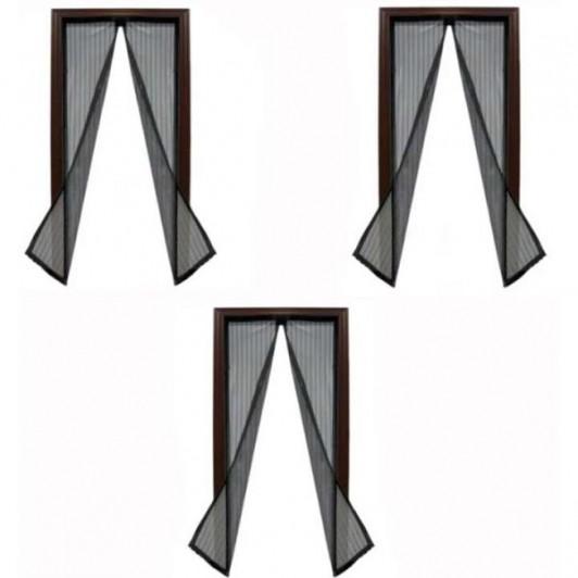 Set 3 perdele magnetice anti-insecte, dimensiuni 210 x 100 cm