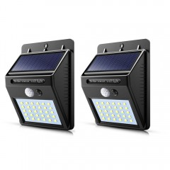 Set 2 x Lampa  solara 30 Led cu senzor de miscare