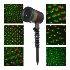 Laser de sarbatori pentru exterior sau interior, rezistent la apa, luminite verzi si rosii