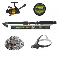 Pachet de pescuit cu lanseta cool angel 3,6m, Mulineta CBF40 si accesorii