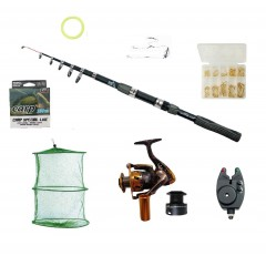 Set complet de pescuit cu lanseta 2.7 m, mulineta MA2000, juvelnic, senzor, cutie cu ace