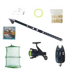 Set pescuit sportiv cu lanseta Ultra Carp 3,6m, mulineta dpr200, guta 0,30mm, senzor si accesorii