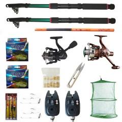 Set pescuit cu lansete Eastshark 3m, doua mulinete, senzori si accesorii, cadou undita carbon 3,6m