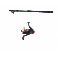 Set lanseta pescuit de 3.6 m, cu mulineta HT200