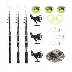 Set pescuit sportiv complet cu 3 lansete 2,4m Wind Blade