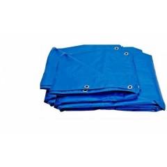 Prelata Albastra / Gri impermeabila 4x8 m, cu inele , 150gr/m2