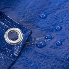Prelata Albastra impermeabila 2x3 cu inele , CALITATE PREMIUM !