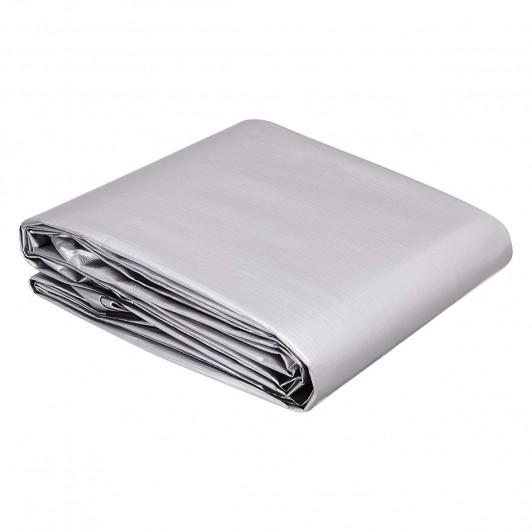 Prelata Gri impermeabila 3 x 5 m cu inele, 175gr/m2, Calitate garantata, durabila