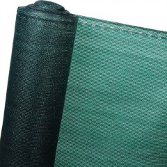 Plasa verde umbrire 1,7m x 50 m, opaca cu grad de umbrire 80%, ideala pentru garduri, terase