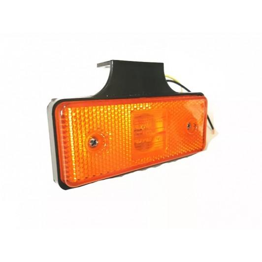 Lampa de gabarit cu suport, 12v-24v lumina galbena,  4 smd + ochi de pisica
