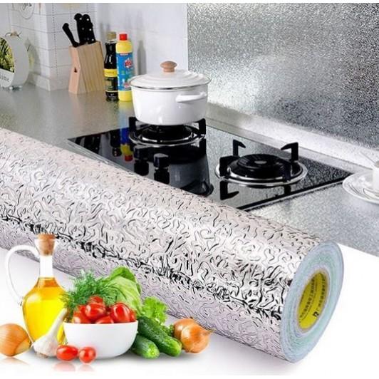 Folie de aluminiu autoadeziva bucatarie 60 x 300 cm