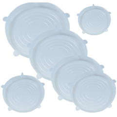 Capace flexibile silicon, set de 6, extensibile