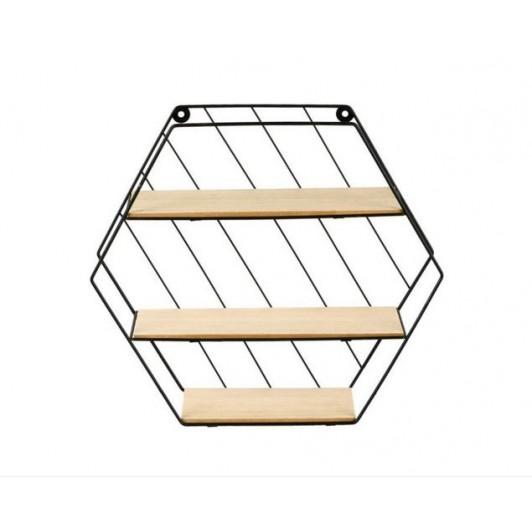 Raft decorativ pentru living, dormitor, hol, bucatarie, pe 3 niveluri, 35x9x30,5 cm, ATS