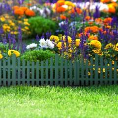 Gard decorativ pentru rondul de flori - 60 x 23 cm - Verde - 11468K