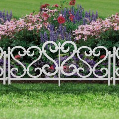 Gard decorativ strat de flori sau gazon - alb - 11468A