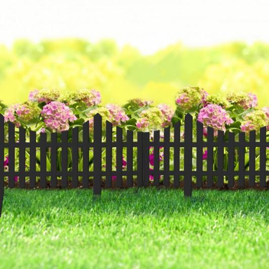 Gardulet decorativ pentru rondul de flori sau gazon - extensibil, 60 x 23 cm - Negru - 11468J