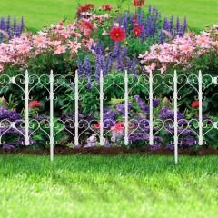 Gardulet pentru delimitarea stratului de flori sau gazon- 61 x 30 - alb - 11478A