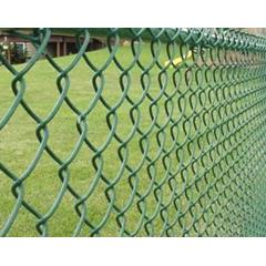 Plasa gard zincata izolatie PVC, verde,H= 1.5m, Lungime 10m, grosime 3mm, dimensiune ochi 50x50mm