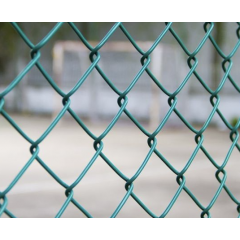 Plasa gard zincata izolatie PVC, verde,H= 2m, L= 10m, grosime 3mm, dimensiune ochi plasa 50x50mm
