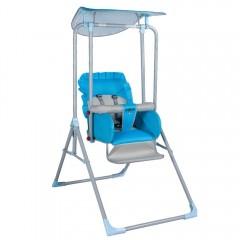 Leagan copii/ bebelusi , 0+ ani, sezut reglabil in 3 trepte, max 40 kg, pliabil, Albastru