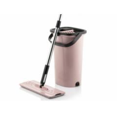 Mop plat profesional cu rotire 360º cu doua cuve de spalare si uscare rapida + 2 rezerve