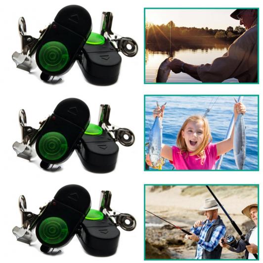 Set 6 senzori pescuit cu avertizor sonor si luminos + 100 ace Cadou