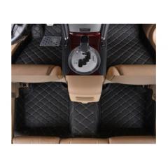 Covorase auto LUX PIELE 5 usi BMW X3 F25 2010-2017, cusatura bej