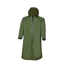Pelerina ploaie pentru adulti cu gluga, marime universala, Verde, 88x66 cm
