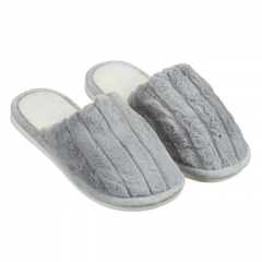 Papuci dama blanita artificiala, Argintiu