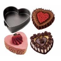Set 3 forme pentru prajituri - forma rotunda, patrata si inima
